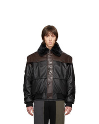 GR-Uniforma Brown Faux Leather Bomber