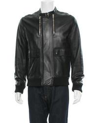 Christian Dior Dior Homme Leather Bomber Jacket