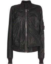 Rick Owens Coated Leather Bomber Jacket