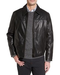 Missani Le Collezioni Collared Leather Jacket