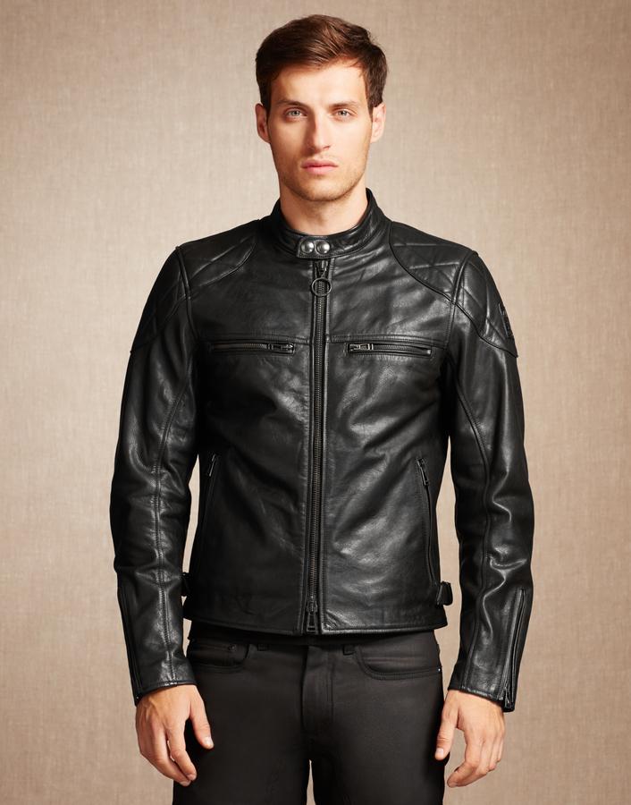Belstaff Leather Bomber Jacket