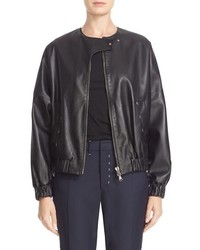 Colovos Leather Bomber Jacket