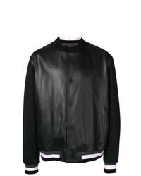 Z Zegna Contrast Sleeve Bomber Jacket