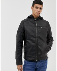 Jack & Jones Core Faux Leather Racer Jacket