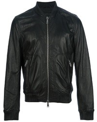 DSquared 2 Leather Bomber Jacket