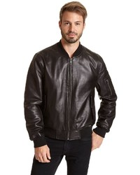 Excelled Excelled Leather Bomber Jacket