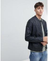 Esprit Faux Leather Biker Jacket With Stitch Detail
