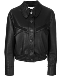 Stella McCartney Faux Leather Bomber Jacket