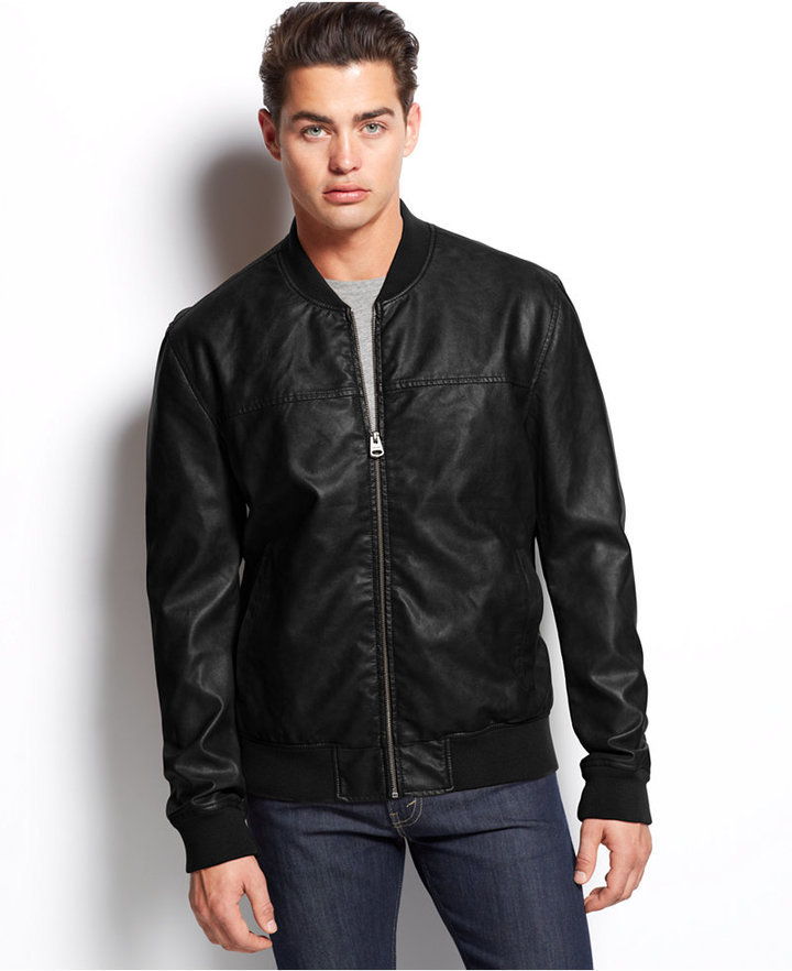 Levi's Faux Leather Varsity Bomber Jacket | Where to buy & how to wear