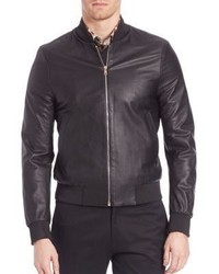 582e86f14b0e3 ... Paul Smith Gents Leather Bomber Jacket