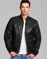 Diesel Ghita Leather Bomber Jacket