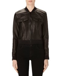 Harlow crop leather bomber jacket medium 3768672