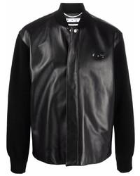 Off-White Hybrid Padded Leather Shirt Black No Col