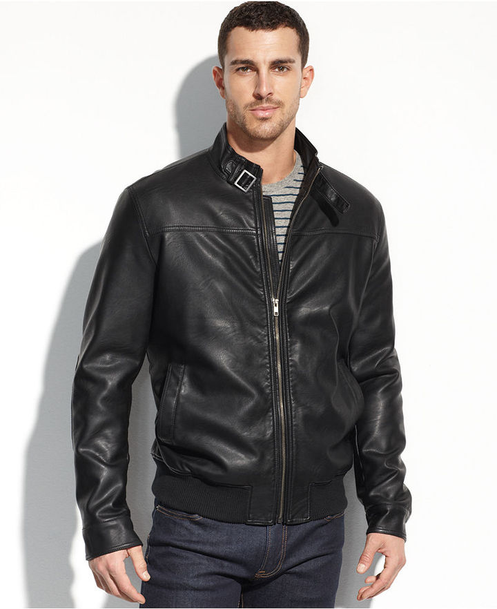6323ca9da $195, Tommy Hilfiger Jacket Faux Leather Bomber
