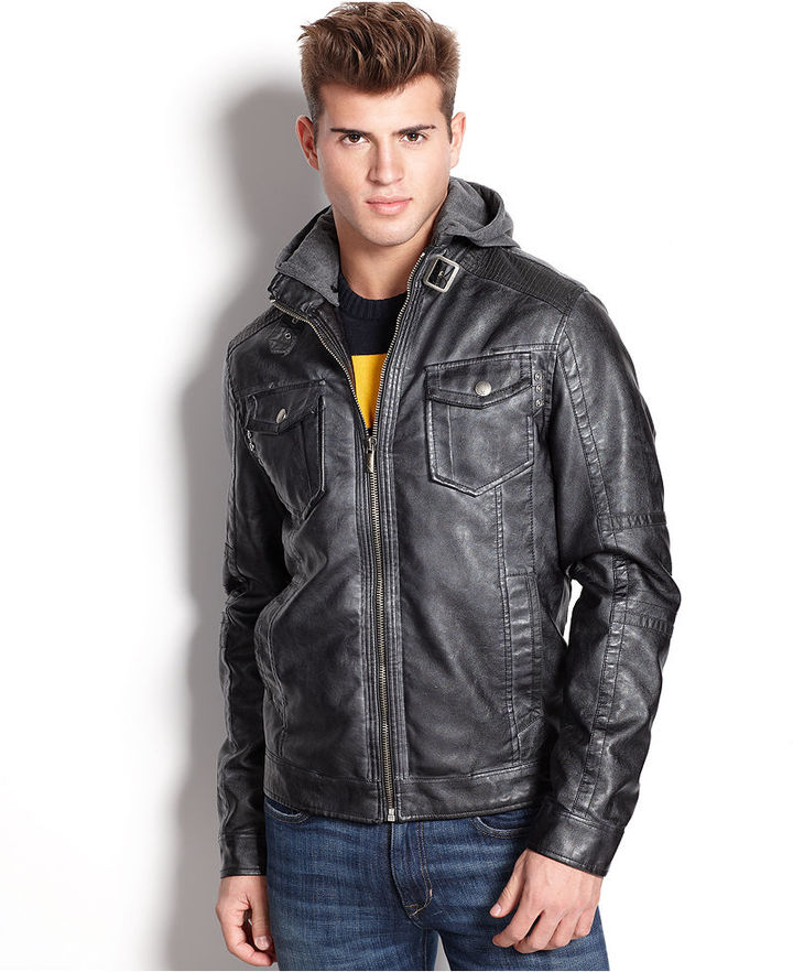X-Ray Jacket Faux Leather Hooded Jacket | Where to buy & how to wear