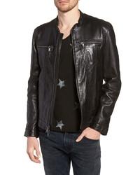 John Varvatos Star USA John Varvatos Regular Fit Leather Jacket
