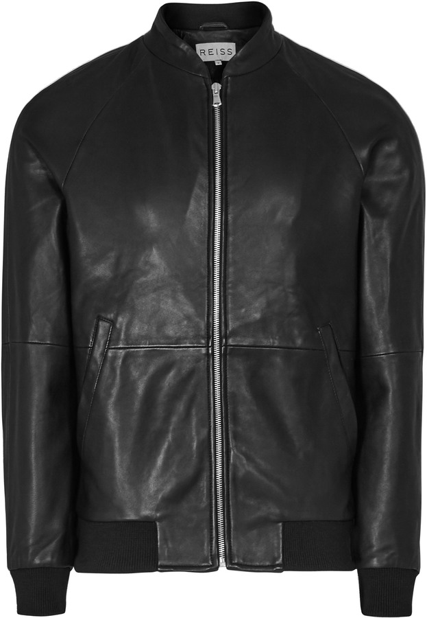 073b82e1d Kent Leather Bomber Jacket