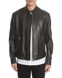 Versace Collection Lambskin Leather Jacket