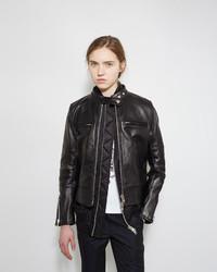 Sacai Layered Leather Moto Jacket
