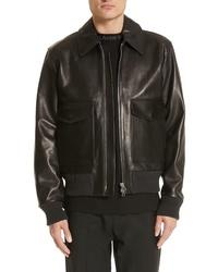 Acne Studios Lazlo Leather Bomber Jacket