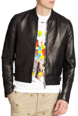 DSQUARED2 Leather Biker Jacket | Where to buy & how to wear