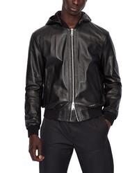 Emporio Armani Leather Blouson Jacket