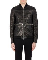 Hood by Air Leather Bomber Jacket Black Size L
