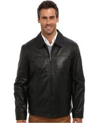 Perry Ellis Leather Bomber Jacket Ep620330