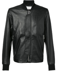 Officine Generale Leather Bomber Jacket