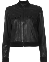 J Brand Leather Bomber Jacket