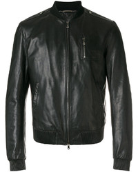 Leather bomber jacket medium 5144341