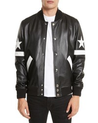 Leather bomber jacket medium 5208340