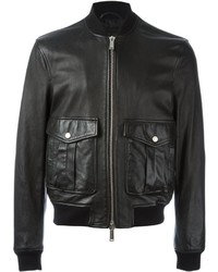 Leather bomber jacket medium 640668
