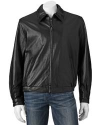 croft & barrow Leather Bomber Jacket