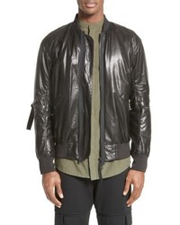 Leather bomber jacket medium 6457662