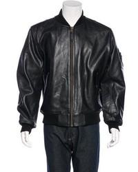 Alpha Industries Leather Bomber Jacket