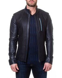Maceoo Leather Bomber Jacket