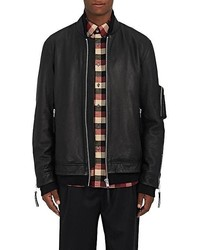 Public School Leather Oversized Bomber Jacket