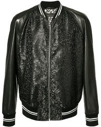 Alexander McQueen Leather Panelled Bomber Jacket
