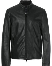 Armani Jeans Leather Zip Jacket