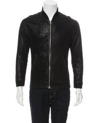 BLK DNM Metallic Leather Bomber Jacket