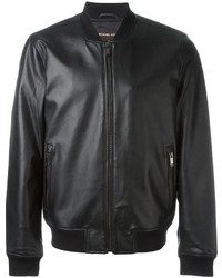 Michael Kors Michl Kors Leather Bomber Jacket