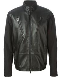 Michael Kors Michl Kors Contrasting Sleeve Biker Jacket