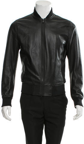 Michael Kors Michl Kors Perforated Leather Bomber Jacket