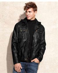 8ac84ae130c3 ... MICHAEL Michael Kors Michl Michl Kors Jacket Dallas Removable Hooded  Bib Faux Leather Jacket