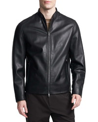 Theory Moore Leather Bomber Jacket