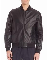 Z Zegna Nappa Leather Padded Bomber Jacket