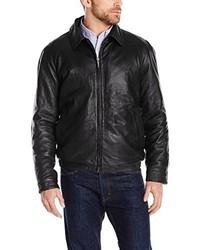 Nautica Lambskin Leather Bomber Jacket