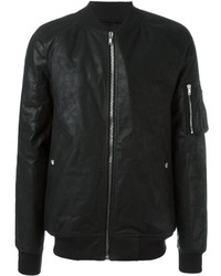 Rick Owens Padded Leather Bomber Jacket