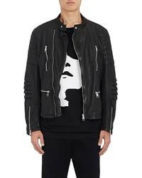 Neil Barrett Painted Leather Moto Jacket